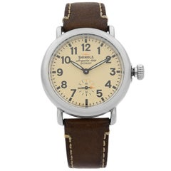 Shinola The Runwell Stainless Steel Cream Dial Quartz Ladies Watch S0200053