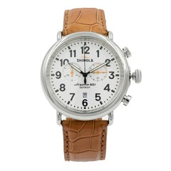Shinola the Runwell White Arabic Dial Steel Quartz Men's Watch 10000045