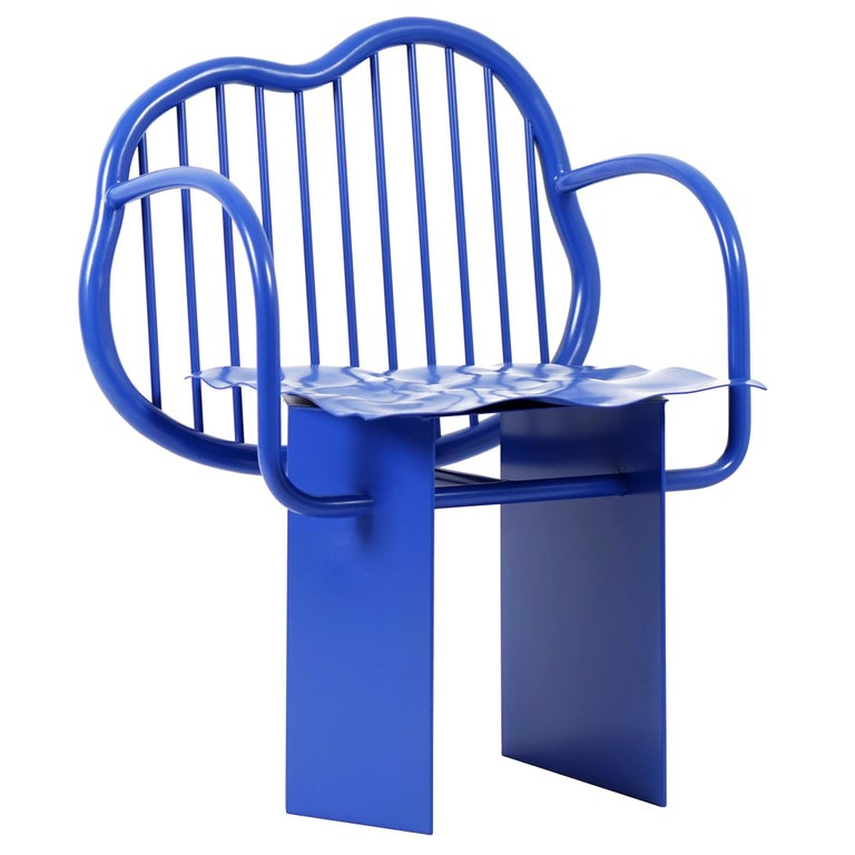 """Shiny chair"" in Blue Edition by Supaform For Sale"