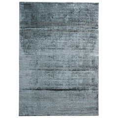 Shiny Gray Viscose Rug by Deanna Comelllini