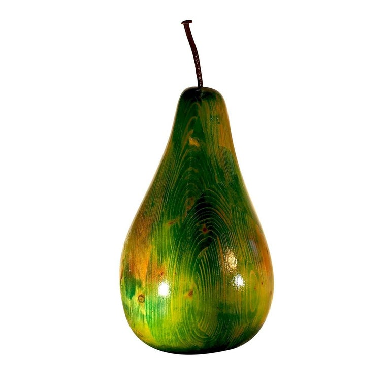 Modern Shiny Green Pear For Sale