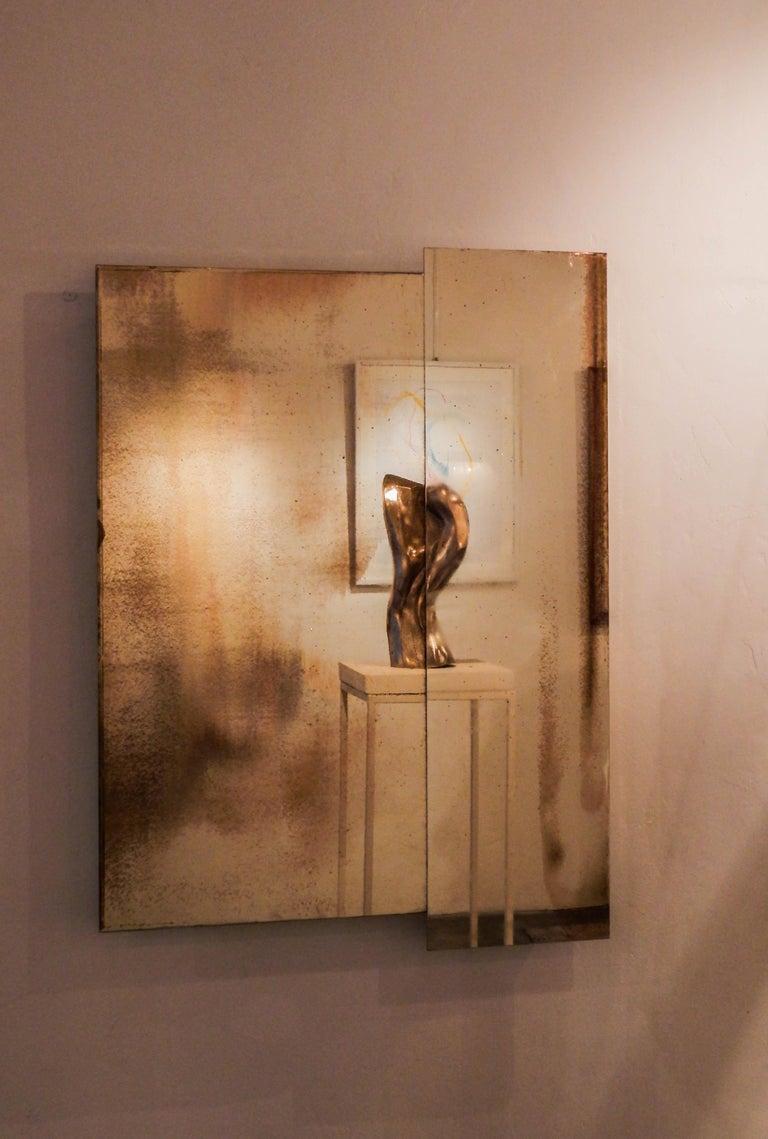 Shiny Wall Mirror Panels Art Glass Silvered Sheets Sabrina