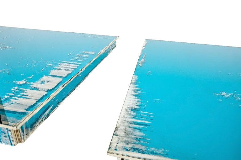 Shiny Water Acqua Marina Mirror Silvered Glass Sabrina Landini For Sale 3
