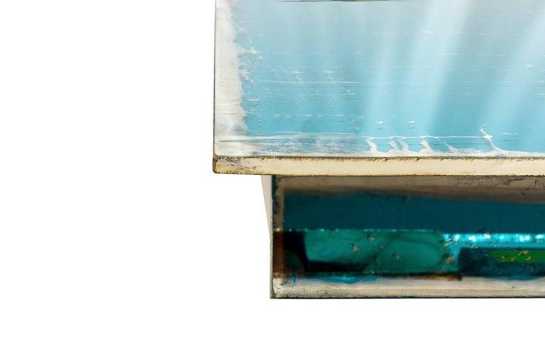 Shiny Water Acqua Marina Mirror Silvered Glass Sabrina Landini For Sale 5