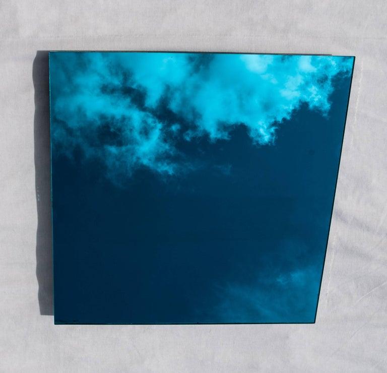 Shiny Water Acqua Marina Mirror Silvered Glass Sabrina Landini In New Condition For Sale In Pietrasanta, IT
