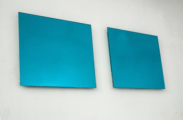 Contemporary Shiny Water Acqua Marina Mirror Silvered Glass Sabrina Landini For Sale