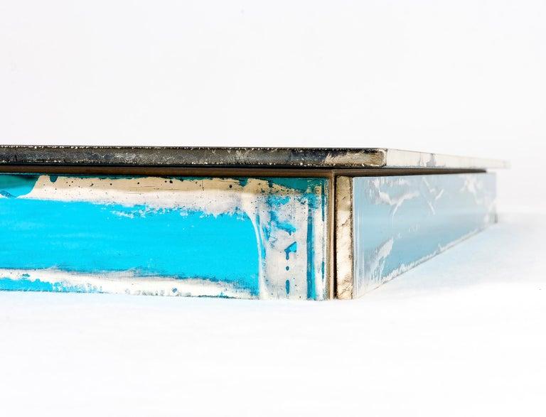 Shiny Water Acqua Marina Mirror Silvered Glass Sabrina Landini For Sale 2