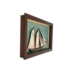 Ship Diorama of a Schooner