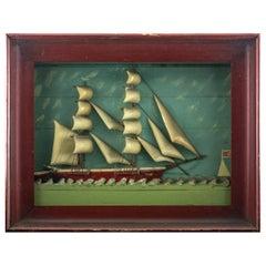 """Ship Diorama of the Vessel """"Lillian"""""""