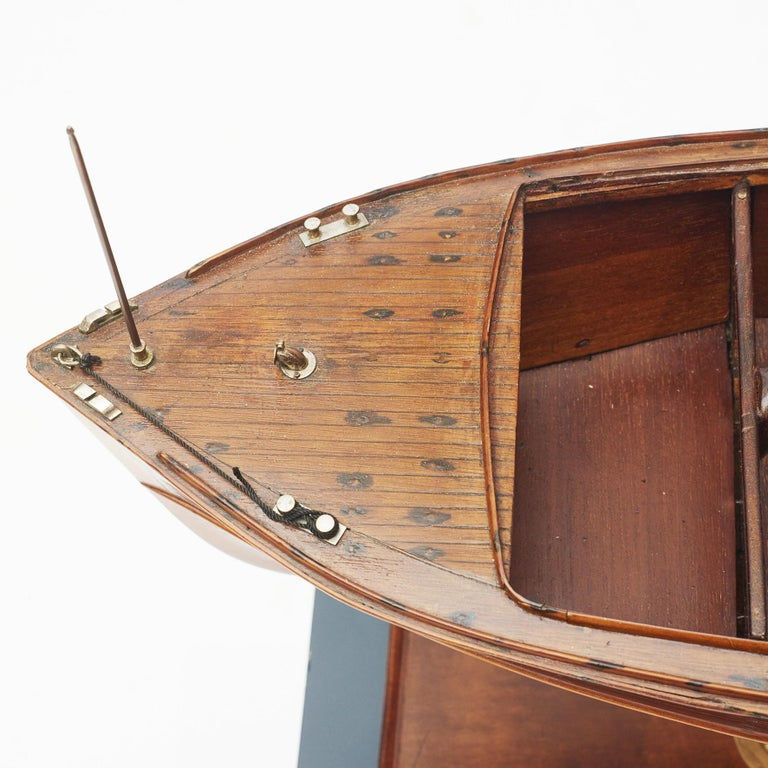 Mahogany Ship Model, Vosper Motor Boat For Sale