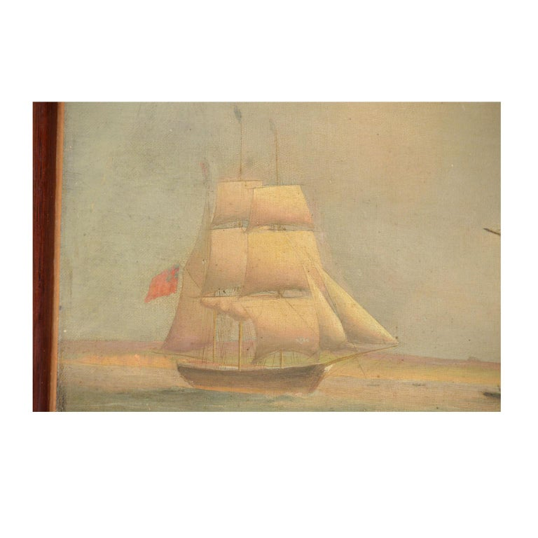 Ship Portrait, Oil on Canvas, First Half of the 19th Century 6