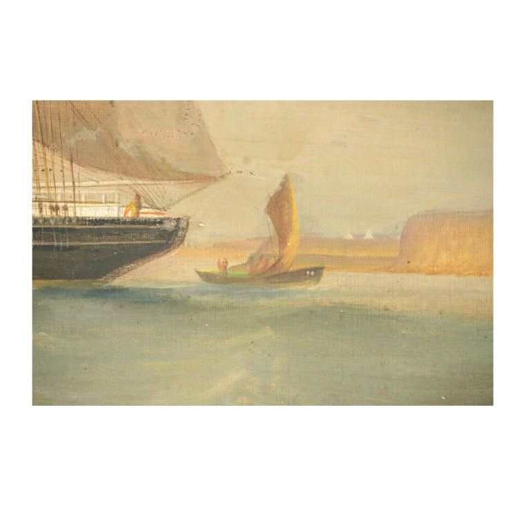 Ship Portrait, Oil on Canvas, First Half of the 19th Century 8
