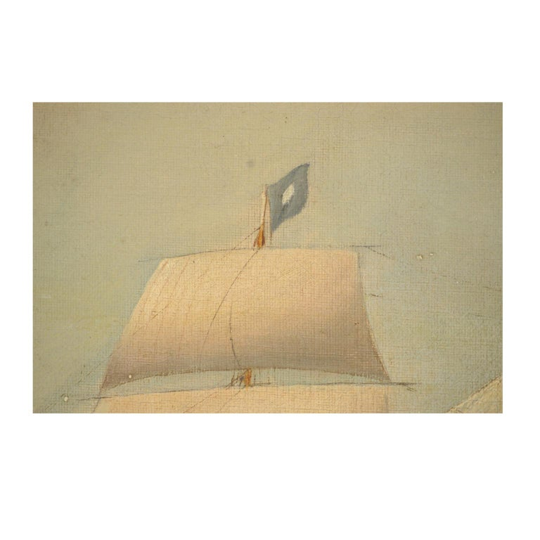 Ship Portrait, Oil on Canvas, First Half of the 19th Century 10