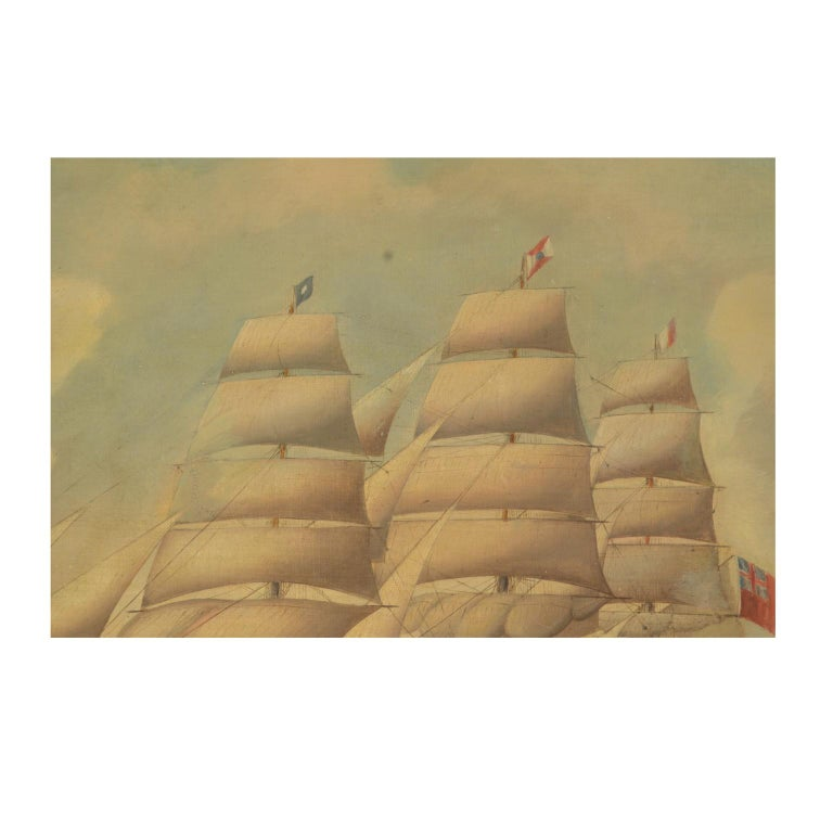 Ship Portrait, Oil on Canvas, First Half of the 19th Century 3