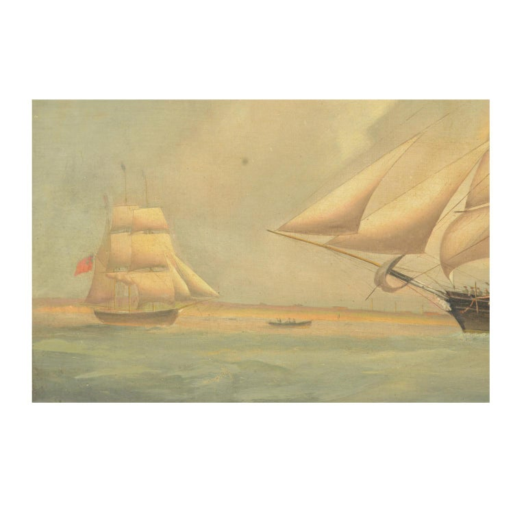 Ship Portrait, Oil on Canvas, First Half of the 19th Century 4