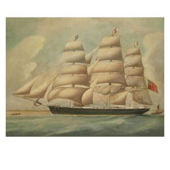 Ship Portrait, Oil on Canvas, First Half of the 19th Century
