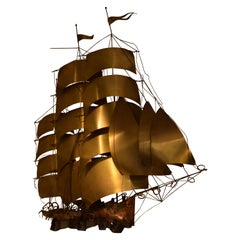 Ship Wall Light in Solid Copper & Brass by Daniel d'Haeseleer