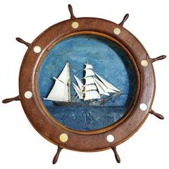 Ship Wheel Miniature Ship Diorama