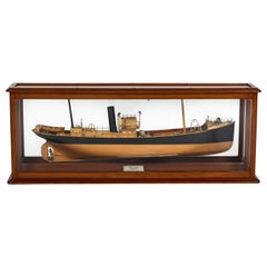 Shipbuilder's Mirrored Back Half Model of the Steam Trawler Lock Inver, 1930