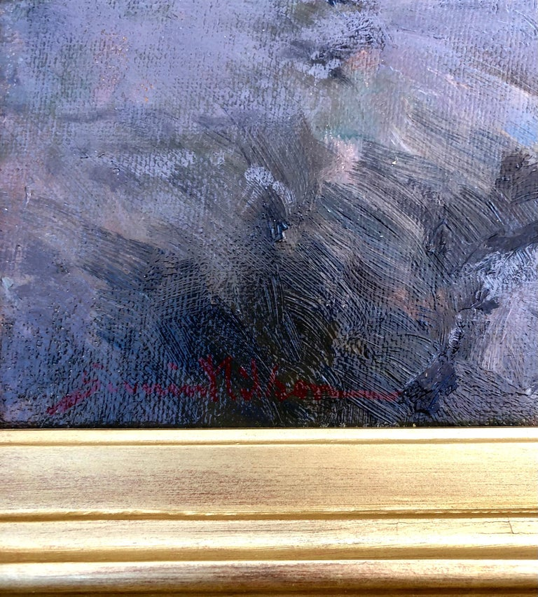 Severin Nilson oil on canvas presented in a beautiful period frame, measuring 12.5