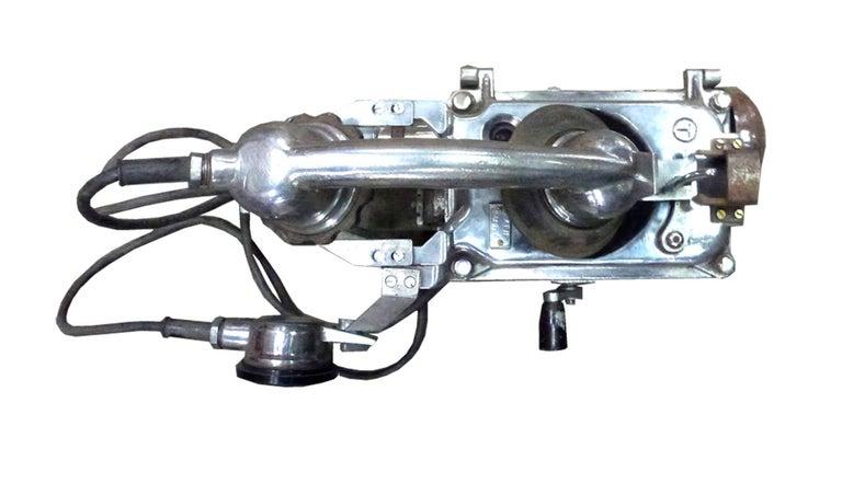 Ship's aluminium telephone, perfect for your loft decorating!