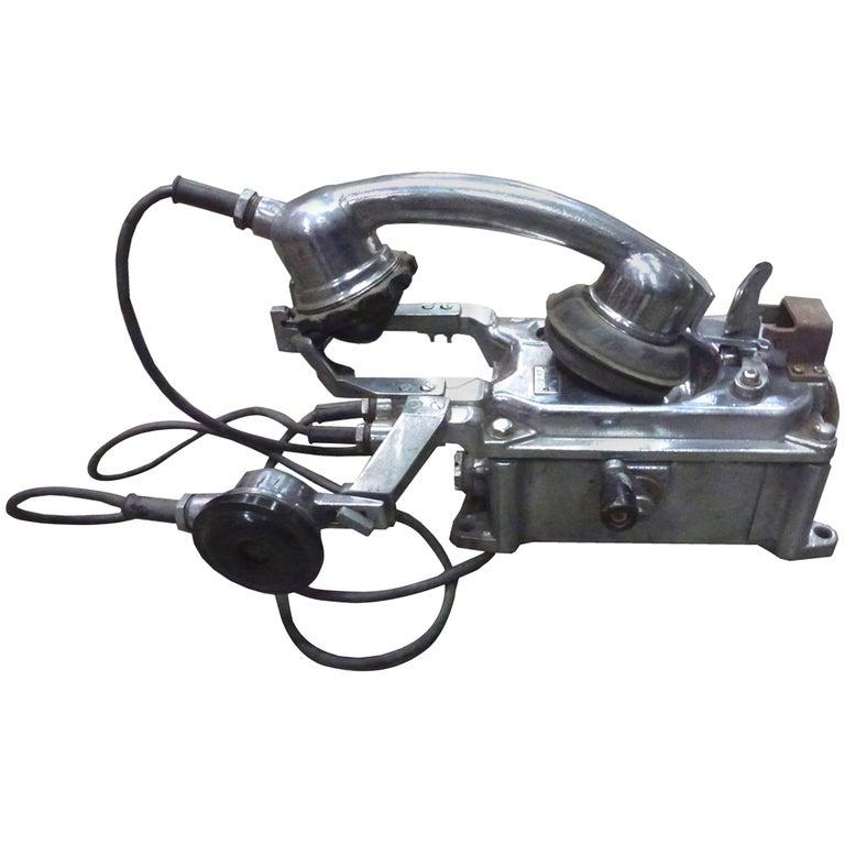Ship's Aluminium Telephone For Sale