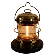 Ships Anchor Lantern of Solid Brass