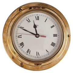 Ship's Brass Vintage Nautical Clock by Bargo, Germany