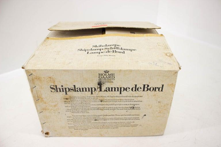 Shipslamp by Sidse Werner for Holmegaard, 1970s, Never Used For Sale 5