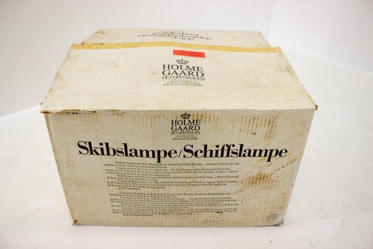 Shipslamp by Sidse Werner for Holmegaard, 1970s, Never Used For Sale 7