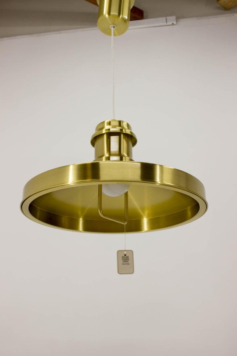 Brass Shipslamp by Sidse Werner for Holmegaard, 1970s, Never Used For Sale