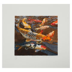 "Shirley Pettibone ""Koi 6"" Nature Watercolor Giclee Print Limited 3/200 Signed"