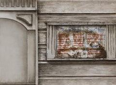 """Regular Flavors"" original watercolor, cityscape, photorealism, hyperrealism"