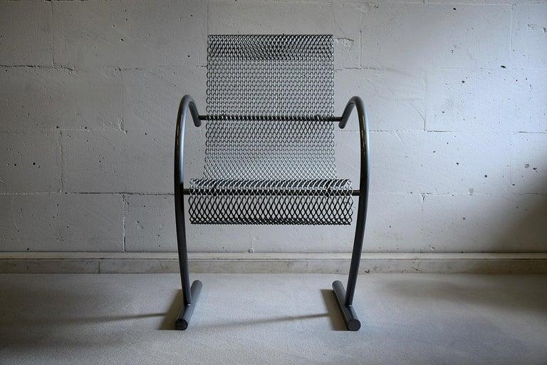 Steel Shiro Kuramata 1985 Sing Sing Sing Armchair For Sale