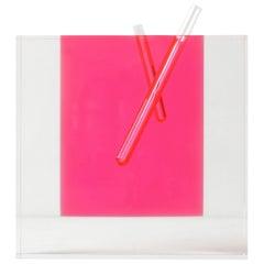 Shiro Kuramata Acrylic Pink Vase, Large Japanese Postmodern