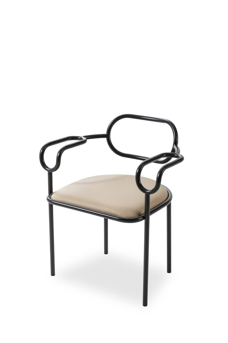 Created as a tribute to the 1980s, the decade during which the original design was made and when Shiro Kuramata began his fertile collaboration with Cappellini, sedia 01 chair features an ultralight volume and is characterized by the sinuous