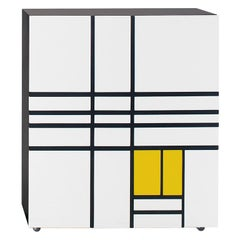 Shiro Kuramata Homage to Mondrian White and Yellow Cabinet for Cappellini