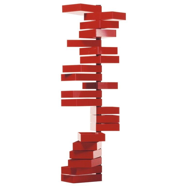 Shiro Kuramata Revolving Cabinet in Red Polish Acrylic Plastic for Cappellini For Sale