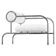 Shiro Kuramata Sofa With Arms in Chromed Tubular Metal for Cappellini
