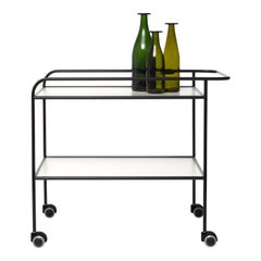 Shiro Kuramata Steelpipe Drink Trolley in Metal for Cappellini
