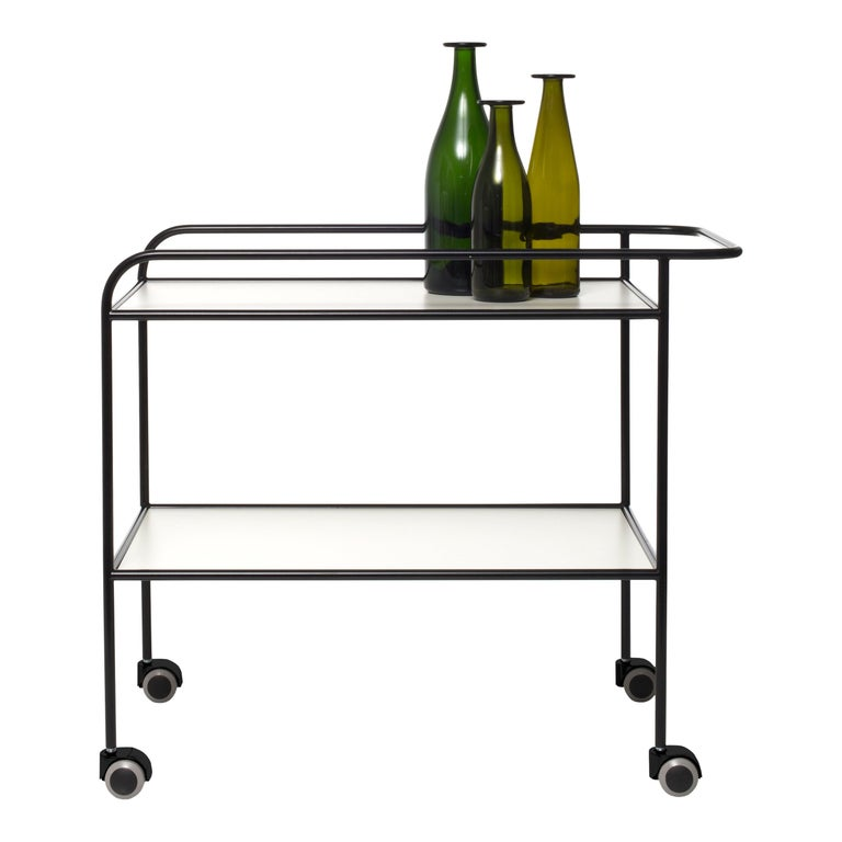 Shiro Kuramata Steelpipe Drink Trolley in Metal for Cappellini For Sale
