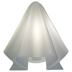Shiro Kuramata White Molded Plastic OBA-Q Table Lamp for Ishumaru, 1972