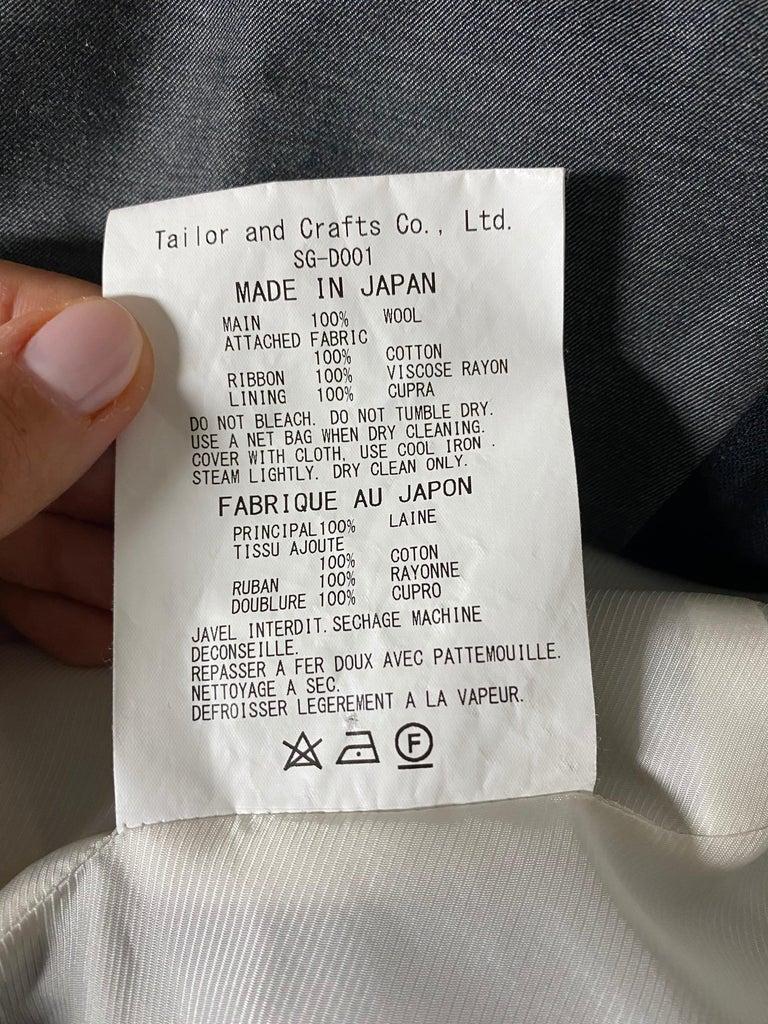 Shiro Sakai Black Sleeveless Button Down Mini Dress Size L For Sale 7