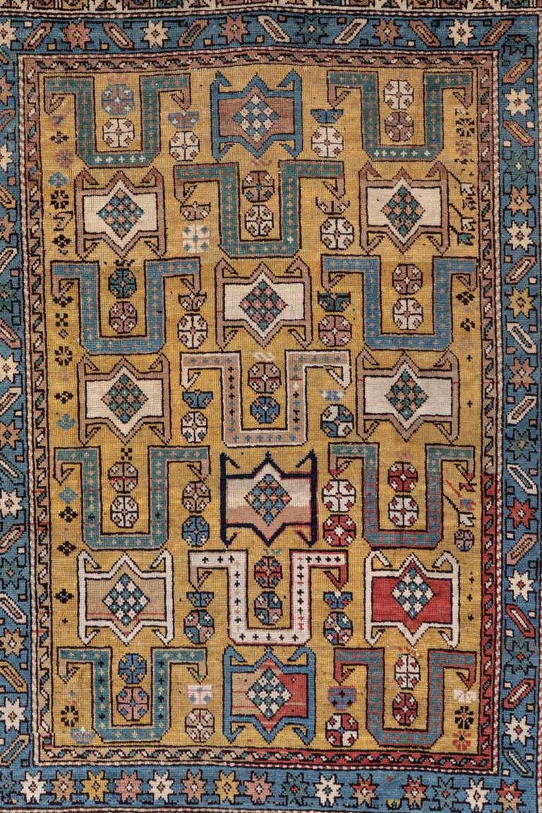 Tribal Shirvan 19th Century Caucasian Rug For Sale