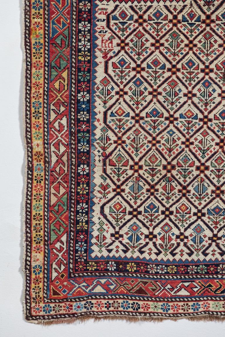 Hand-Woven Shirvan 19th Century Caucasian Rug For Sale