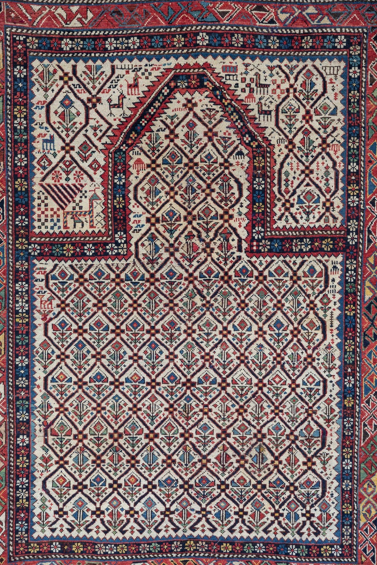 Shirvan 19th Century Caucasian Rug In Good Condition For Sale In Los Angeles, CA