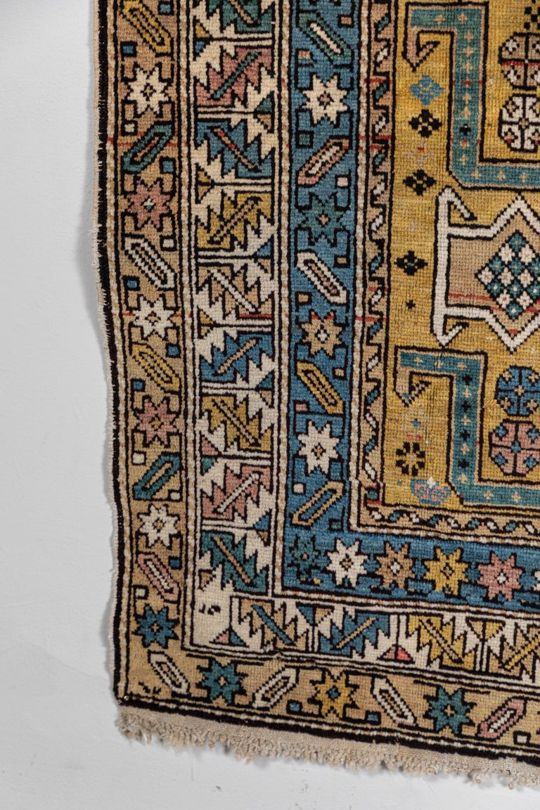 Wool Shirvan 19th Century Caucasian Rug For Sale