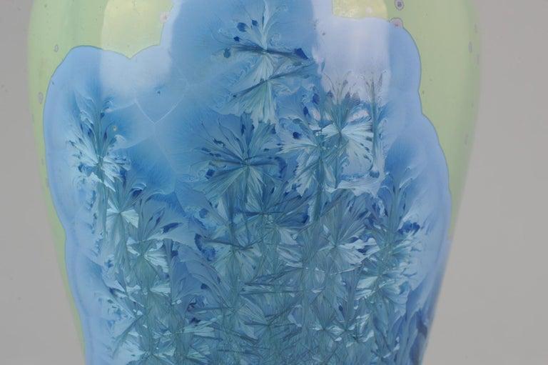Shiwan 20th Century PRoC 1970-1980 Chinese Porcelain Vase Crystalline Glaz For Sale 8