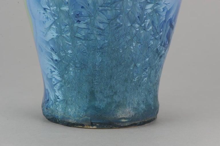 Shiwan 20th Century PRoC 1970-1980 Chinese Porcelain Vase Crystalline Glaz For Sale 9