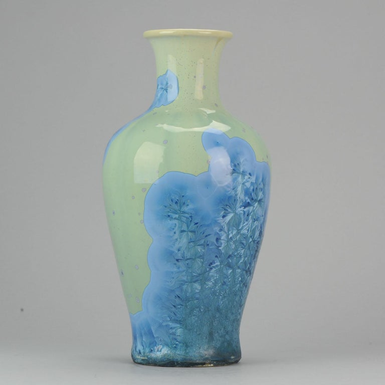 Shiwan 20th Century PRoC 1970-1980 Chinese Porcelain Vase Crystalline Glaz For Sale 1